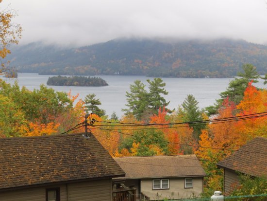 Candlelight Cottages LLC on Lake George: Fall view from hillside cottage