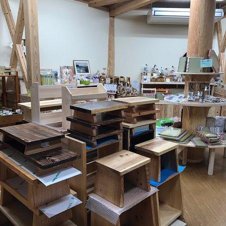 Nobeoka, Japonia: 木工製品の土産コーナーもあります