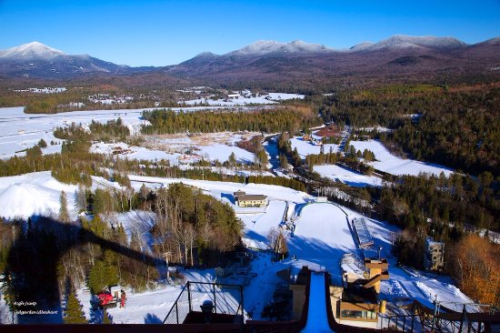 Wilmington, Нью-Йорк: View of Whiteface from a High Ski Jump