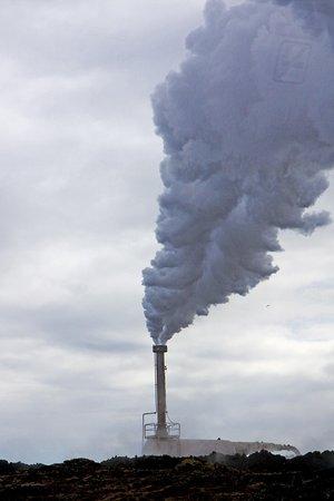 Grindavik, Iceland: Dampf aus der Tiefe der Erde