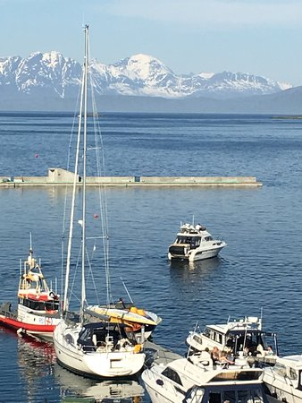 View from the room over Harstad harbour