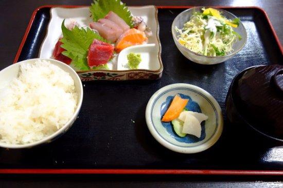 Chikugo, Japan: 刺身定食