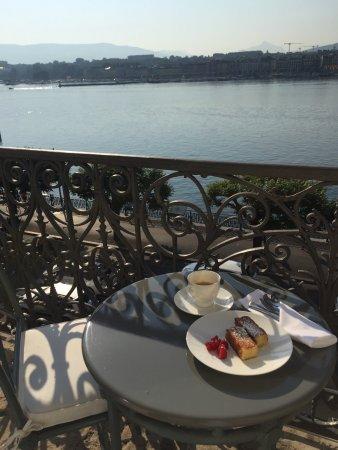The Ritz Carlton Hotel De La Paix Geneva Breakfast With Lake