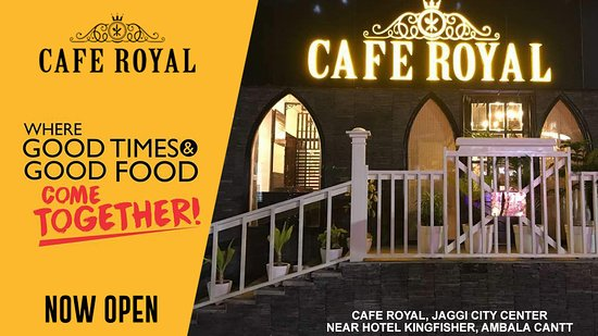 Ambala, India: Cafe Royal is now open. Come join us!!