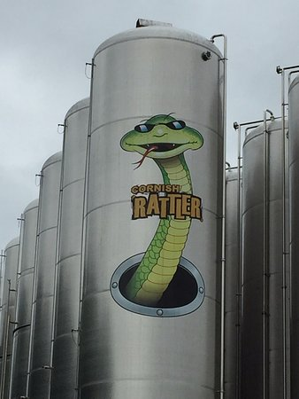 Truro, UK: The snake motto of the Rattler cider