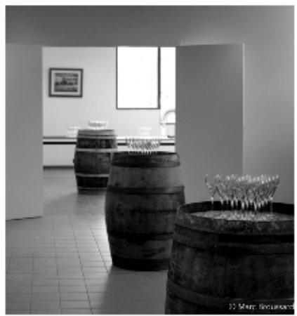 Mont-pres-Chambord, France : Salle disponible pour les vernissages à chaque nouvelle exposition