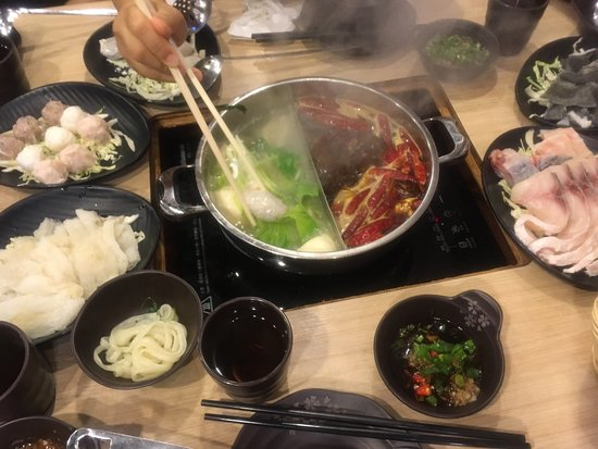 Two Hot Pot: More expensive if 2 types of soup for hotpot