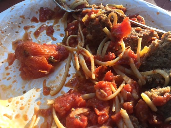 """Ciao Mambo: Leftovers for our grandson.....2"""" & 3""""chunks of stewed tomatoes!"""