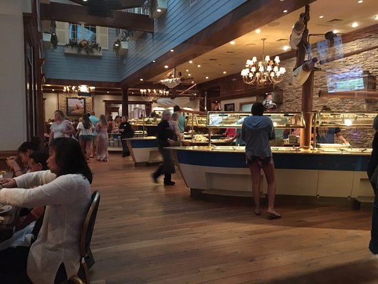 Captain George S Seafood Restaurant The Buffet One Side Of