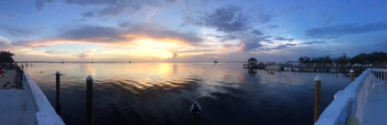 Amy Slate's Amoray Dive Resort: view from the property dock