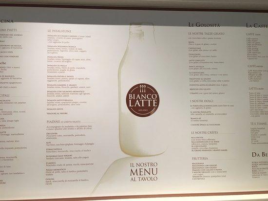 The menu (April 2017) - Picture of Biancolatte, Milan ...