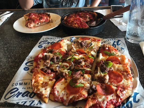 Very good deep dish pizza. We got the babies. The waitress was very nice and the new decor was very modern. It's like the Chicago style but in Orlando, Fl.7/10().
