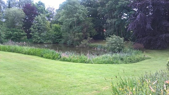 Bassum, Germany: View of lawns and lake.
