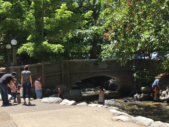 Lithia Park: Bridge over the stream