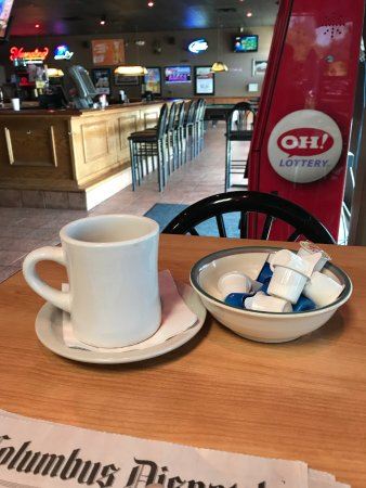 Delaware, OH: my coffee, cream, and cup