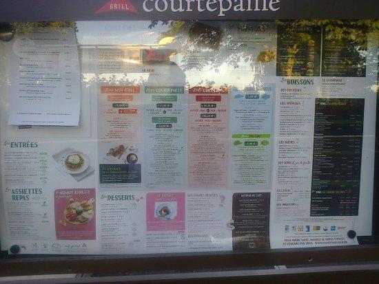 Goussainville, France: menu.