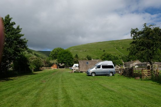 Buckden, UK: View of camping field