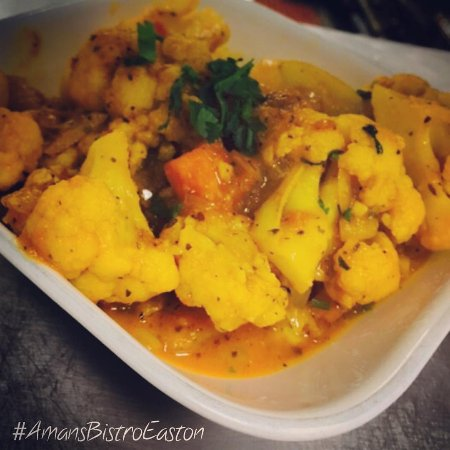 Veg manchurian picture of aman 39 s indian bistro easton for Aman indian cuisine