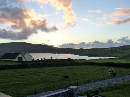 Portmagee Heights: Taking in the view from our room at dusk