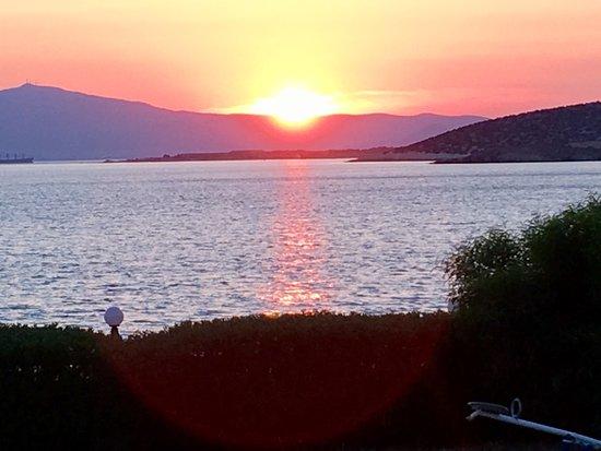 Agiassos, Grecia: Vue depuis notre table