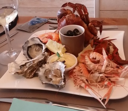 Escapades: assiette de fruits de mer