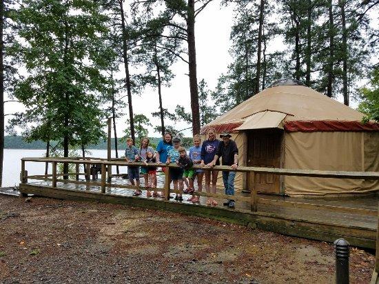 Bismarck, AR: Yurt camping at DeGray Lake
