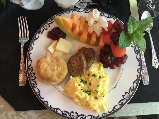 Watkinsville, GA: Frühstück, immer sehr individuell und liebevoll zubereitet