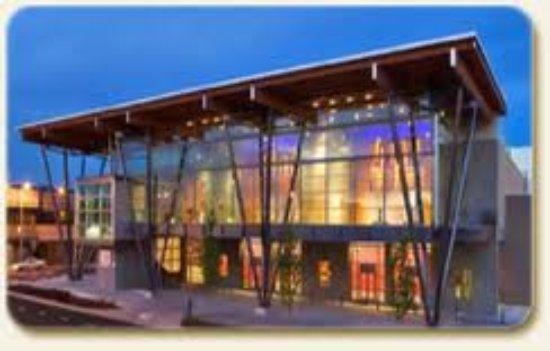 Salem, OR: Conference center at night.
