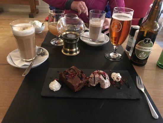 Soroe, Denmark: Litt interiør litt øl litt biff og litt dessert. Alt i akt meget smakfullt 😉👍