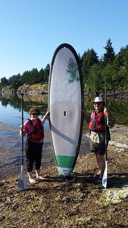 Nanoose Bay, Kanada: First time paddlers@ Pacific Shores Resort & Spa