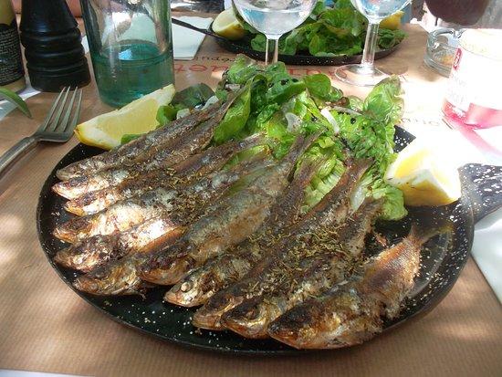 La Guingette : sardines salade vinaigre balsamique sur poele