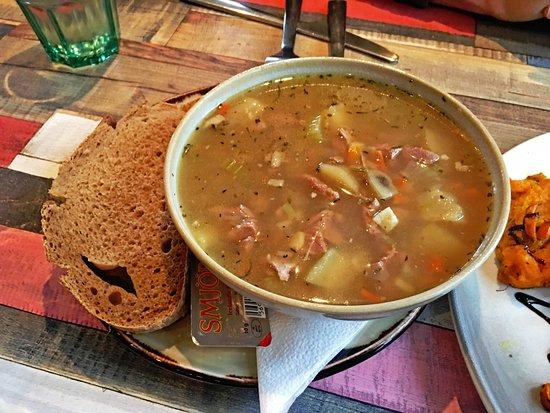 Hvolsvollur, Island: Icelandic Lamb Soup. Tasty and hearty.