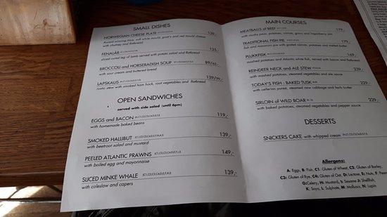 Pingvinen : menu