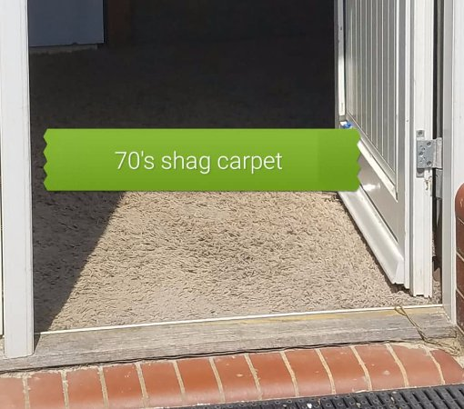 Stansted Airport Lodge : Nasty OLD shag carpet