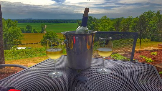 Marthasville, MO: Relaxing with a nice bottle of wine