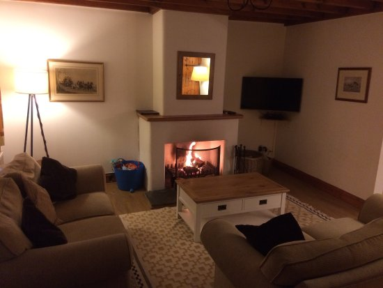 East Allington, UK: Cosy night in at Cartwheel cottage. Perfect!