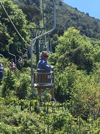 Monte Solaro: The chairlift up!