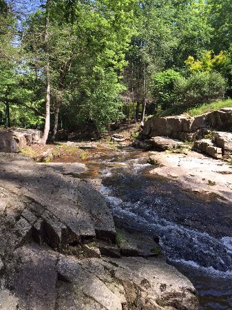 Rumbling Bald Resort on Lake Lure: Trout stream on our rental property