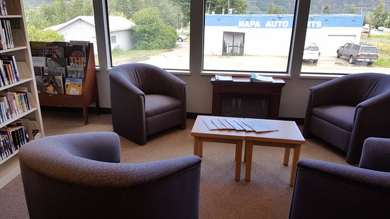 Chase Library, Thompson-Nicola Regional Library: Pull up a comfortable chair to peruse your find!