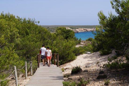 walk down to beach