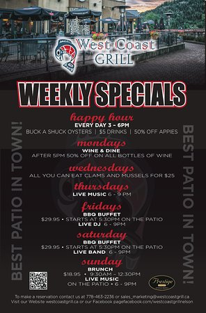 Nelson, Canada: Daily Specials