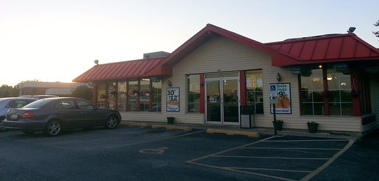Elk Grove Village, Ιλινόις: front of & entrance to Brown's Chicken