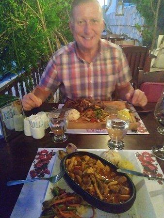 Divers Restaraunt: fish casserole and steak - yum