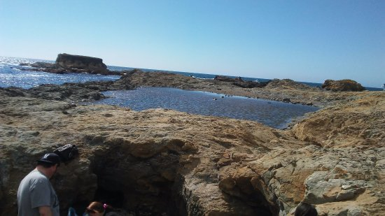 Glass Beach: One of the larger tide pools