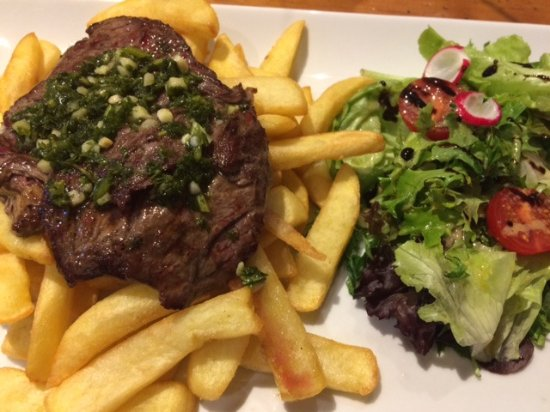 Eymet, France: Steak too tough