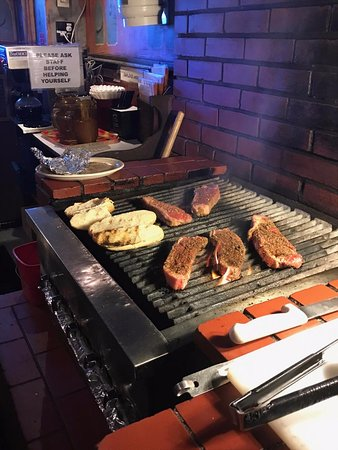 Monterey Park, CA: The grill at the Venice Room where you grill your own steak.