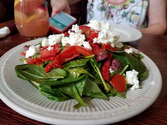 Takoma Park, MD: Spinach salad with feta