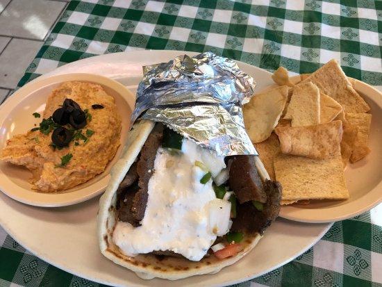 Abingdon, VA: Gyro and hummus