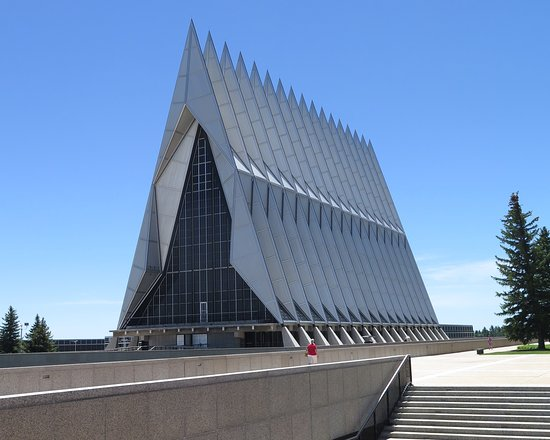United States Air Force Academy: The Air Force Chapel outside