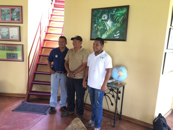 Canopy Tower: Our wonderful guides, Alex, Domi & Jorge.